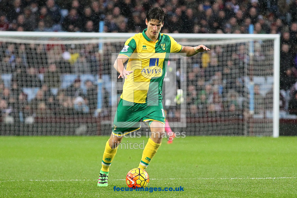 Timm Klose of Norwich in action during the Barclays Premier League match at Villa Park, Birmingham<br /> Picture by Paul Chesterton/Focus Images Ltd +44 7904 640267<br /> 06/02/2016