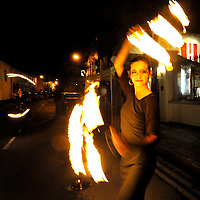-FREE PICTURE / NO REPRODUCTION FEE-.Pictured at the annual Black and White Ball in the Blue Haven Hotel, Kinsale was fire dancer Petra Skodova from the circus group Pas Par Tout..Pic. John Allen