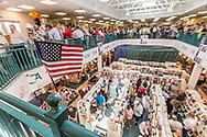 "Customers wait patiently to meet President George W. Bush and to receive a signed copy of his book  ""Portraits of Courage"" at the Vero Beach Book Center on 4/26/2017."