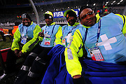 Medical staff  during the Semi Final soccer match of the 2009 Confederations Cup between Spain and the USA played at the Freestate Stadium,Bloemfontein,South Africa on 24 June 2009.  Photo: Gerhard Steenkamp/Superimage Media.