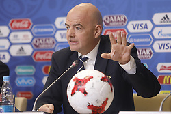 July 1, 2017 - Sain Petersburg, Russia - FIFA President Gianni Infantino during FIFA Confederations Cup Russia 2017 closing press conference at Saint Petersburg Stadium on July 1, 2017 in Saint Petersburg, Russia. (Credit Image: © Mike Kireev/NurPhoto via ZUMA Press)