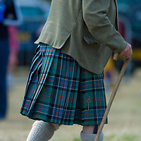 A gentleman wearing a kilt  where HRH The Prince Charles Duke of Rothesay and HRH Duchess of Rothesay watch the Mey Games at Mey (Caithness) Scotland Aug 4 2007