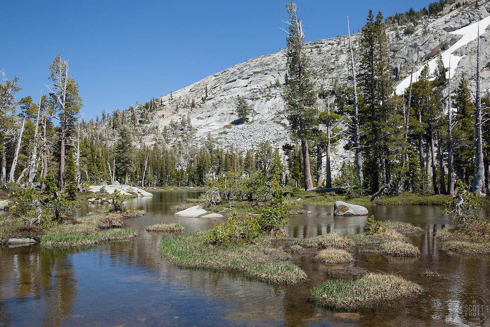 """""""Pond in Desolation Wilderness 2"""" - Photograph of an unnamed pond in the Tahoe Desolation Wilderness."""