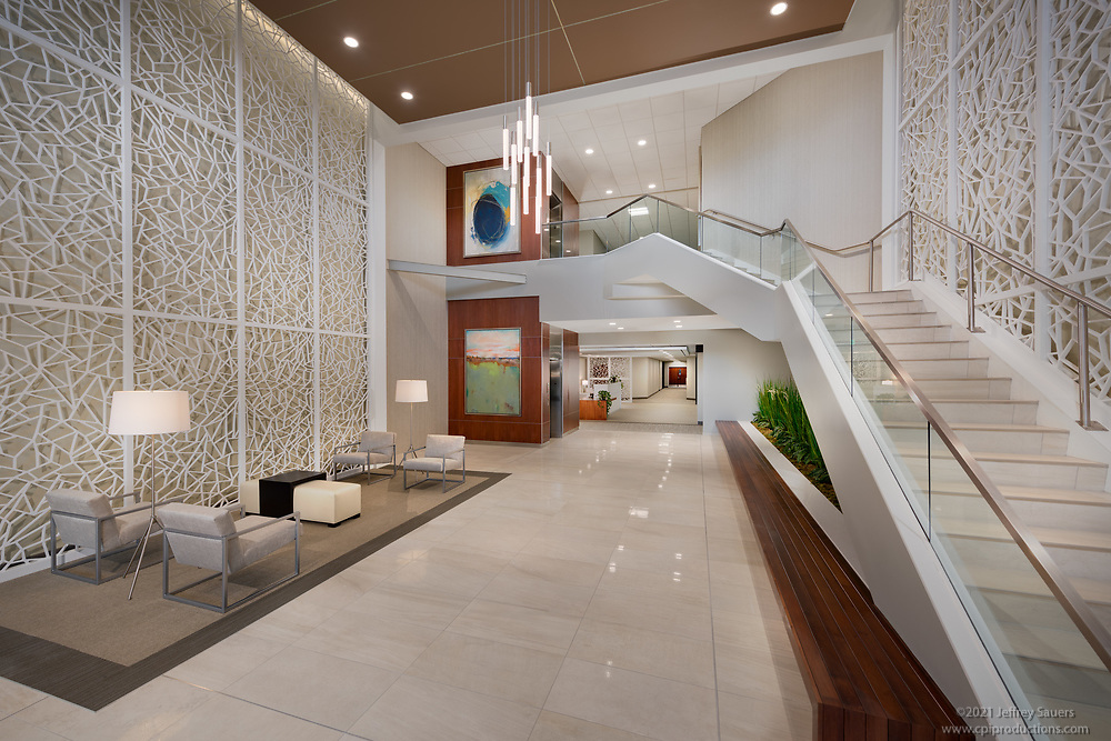 Interior Image of office building at Columbia Gateway Drive in MD by Jeffrey Sauers of Commercial Photographics, Architectural Photo Artistry in Washington DC, Virginia to Florida and PA to New England