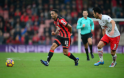 Callum Wilson of Bournemouth passes the ball. - Mandatory by-line: Alex James/JMP - 18/12/2016 - FOOTBALL - Vitality Stadium - Bournemouth, England - Bournemouth v Southampton - Premier League