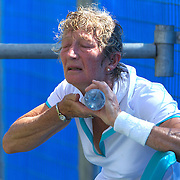 Susan Hill, Great Britain, in action in the 65 Womens Singles during the 2009 ITF Super-Seniors World Team and Individual Championships at Perth, Western Australia, between 2-15th November, 2009.