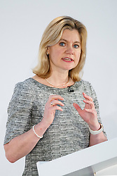 © Licensed to London News Pictures. 17/03/2017. Cardiff, UK. Education Secretary JUSTINE GREENING speaks at Conservative Spring Forum in Cardiff, Wales on 17 March 2017. Photo credit: Tolga Akmen/LNP
