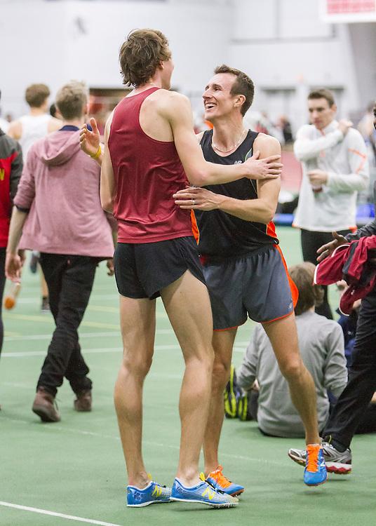 BU Valentine Invitational, mens 3000 meters, Korolev, Harvard, Geoghegan, Dartmouth