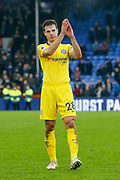 Chelsea defender Cesar Azpilicueta (28) applauds the crowd during the Premier League match between Crystal Palace and Chelsea at Selhurst Park, London, England on 30 December 2018.