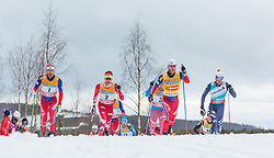 05.12.2015, Nordic Arena, NOR, FIS Weltcup Langlauf, Lillehammer, Herren, im Bild v.l.: Hans Christer Holund (NOR), Alex Harvey (CAN), Martin Johnsrud Sundby (NOR), Francesco de Fabiani (ITA) // Hans Christer Holund of Norway, Alex Harvey of Canada, Martin Johnsrud Sundby of Norway, Francesco de Fabiani of Italy during Mens Cross Country Competition of FIS Cross Country World Cup at the Nordic Arena, Lillehammer, Norway on 2015/12/05. EXPA Pictures © 2015, PhotoCredit: EXPA/ JFK