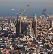 Apse facade, Gaudi Temple Sagrada Familia, 20th - 21st centuries, Barcelona, Spain. Picture by Manuel Cohen