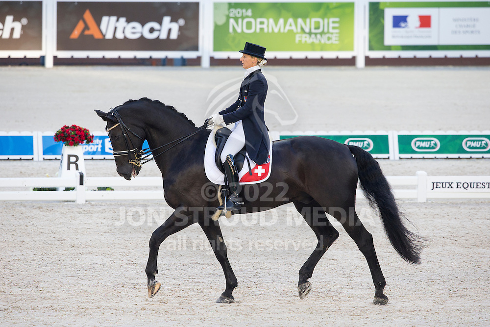 Melanie Hofmann, (SUI), Gb Cazzago C - Grand Prix Team Competition Dressage - Alltech FEI World Equestrian Games&trade; 2014 - Normandy, France.<br /> &copy; Hippo Foto Team - Leanjo de Koster<br /> 25/06/14