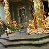 Alberto Carrera, Golden Statues, Chinese House, Sanssouci Park, Sanssouci Palace, Postdam, Brandenburg, Germany, Europe