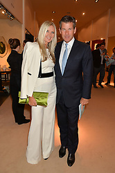 AMANDA WAKELEY and HUGH MORRISON at the Masterpiece Marie Curie Party supported by Jeager-LeCoultre held at the South Grounds of The Royal Hospital Chelsea, London on 30th June 2014.