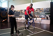 Cincinnati Bengals rookie A.J. Green (R) is tested at the Gatorade Sports Science Institute on February 13, 2011 in Barrington, Illinois. (For Gatorade)