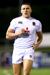 Ollie Sleightholme of England U20 - Mandatory by-line: Robbie Stephenson/JMP - 22/02/2019 - RUGBY - Zip World Stadium - Colwyn Bay, Wales - Wales U20 v England U20 - Under-20 Six Nations