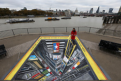 To mark one of the most controversial US election campaigns in modern history Sky News has commissioned a 3D street art scene of Times Square, New York.<br /> The commission, created by street artist Joe Hill, will be positioned at Observation Point on London's South Bank on Sunday 6th and Monday 7thNovember ahead of the US election on 8thNovember. Tourists and commuters will be able to enjoy the art and join in by standing on its edge looking down on a busy Times Square.<br /> Sky News' election night coverage, America Decides, will be broadcast from a specially created studio on Times Square from 10pm on Tuesday 8thNovember across television, mobile, radio and social media.