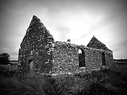 Cloncha Church, Culdaff, Donegal,  built c.1600 on ancient site,