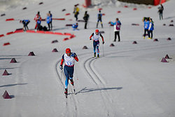 MIKHAYLOV Kirill, MINNEGULOV Rushan competing in the Nordic Skiing XC Long Distance at the 2014 Sochi Winter Paralympic Games, Russia