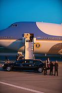 ©www.agencepeps.be - Visite officielle de Barack Obama à Bruxelles.Sous haute protection et accompagné d'une délégation d'environs 900 personnes. Pics: Air force One