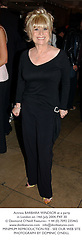 Actress BARBARA WINDSOR at a party in London on 14th July 2004.PXF 30