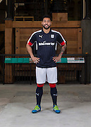 Dundee&rsquo;s Kane Hemmings models the club's 2016-17 Puma home kit<br /> <br />  - &copy; David Young - www.davidyoungphoto.co.uk - email: davidyoungphoto@gmail.com