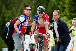 Fifth placed Golcer Jure (Slovenia) of Adria Mobil at finish line during Stage 2 of 23rd Tour of Slovenia 2016 / Tour de Slovenie from Nova Gorica to Golte  (217,2 km) cycling race on June 17, 2016 in Slovenia. Photo by Vid Ponikvar / Sportida