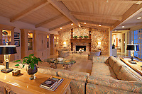Modern living room interior of luxury manor house