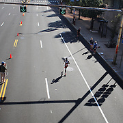 Getachew Melese, Bronx, New York, winning the ING Hartford Marathon, Bushnell Park, Hartford. Connecticut. USA. Hartford, Connecticut, USA. 12th October 2013. Photo Tim Clayton