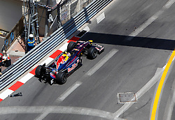 MONTE-CARLO, MONACO - Sunday, May 24, 2009: Sebastian Vettel (GER Red Bull) crashes during the Monaco Formula One Grand Prix at the Monte-Carlo Circuit. (Pic by Juergen Tap/Hoch Zwei/Propaganda)