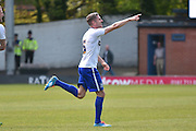 Bury Forward, Ryan Lowe celebrates a goal 1-1 during the Sky Bet League 1 match between Bury and Southend United at the JD Stadium, Bury, England on 8 May 2016. Photo by Mark Pollitt.