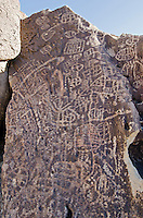 Sacred Owens Valley Paiute petroglyph panel in the Eastern Sierras, California.