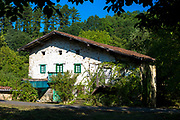 Traditional Basque architecture near Llodio in the Biskaia Basque region of Northern Spain