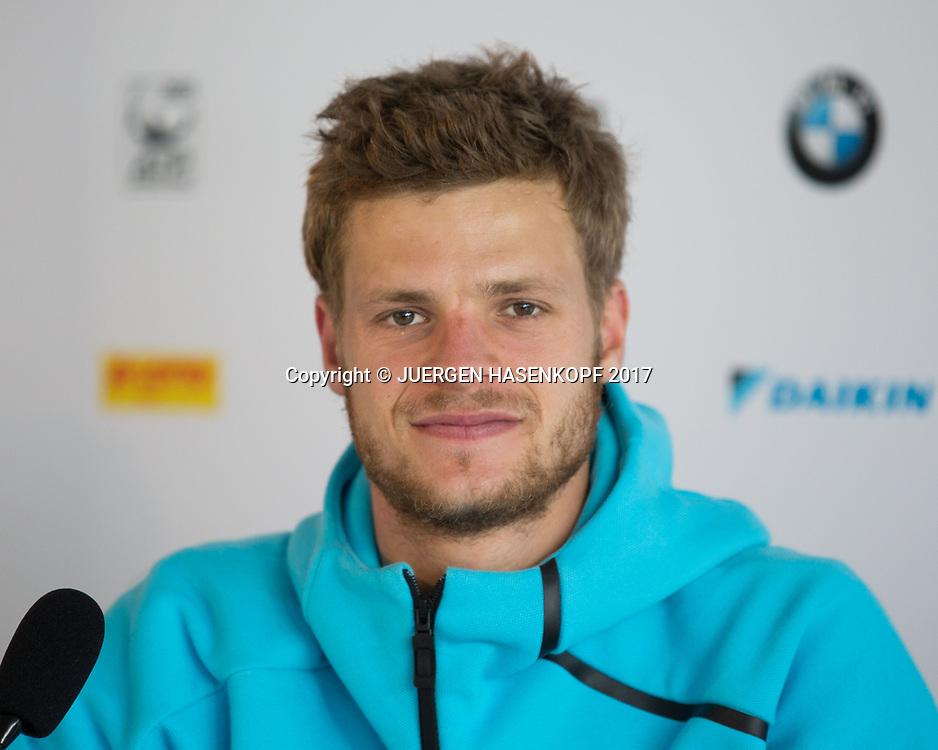 YANNICK HANFMANN (GER), Pressekonferenz<br /> <br /> Tennis - BMW Open2017 -  ATP  -  MTTC Iphitos - Munich -  - Germany  - 3 May 2017.