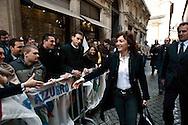 Roma 10 Marzo 2010.Renata Polverini,candidata come Presidente alle Regionali del Lazio all'arrivo in via dell'Umiltà sede  del PdL per la conferenza stampa di Silvio Berlusconi  sulle liste escluse dalle Regionali