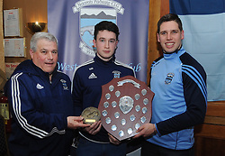 Tim Kennedy and Lee Keegan presented Westport Minor Player of the Year Award to <br />