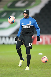 Wigan Athletic's Emmerson Boyce - Photo mandatory by-line: Nigel Pitts-Drake/JMP - Tel: Mobile: 07966 386802 14/01/2014 - SPORT - FOOTBALL - Stadium MK - Milton Keynes - MK Dons v Wigan Athletic - FA Cup - Third Round replay