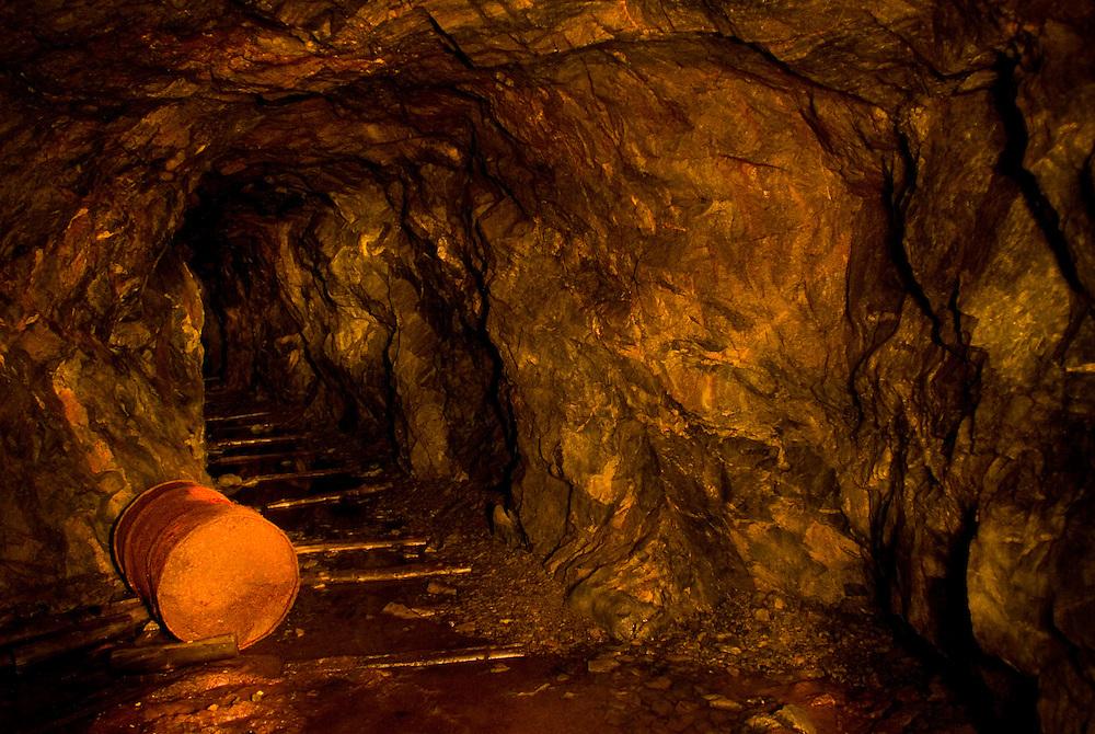 URANIUM CITY, SK - 16/10/08 - An old uranium mine adit in Uranium City Saskatchewan.