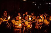 Mexico: Chiapas. Collective marriage in a Tojolabal small village.