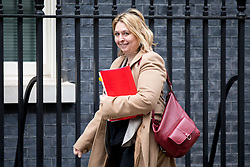 © Licensed to London News Pictures. 29/01/2018. London, UK. Secretary of State for Northern Ireland Karen Bradley arriving in Downing Street to attend a Brexit meeting this morning. Photo credit : Tom Nicholson/LNP