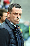 Sunderland manager Jack Ross during the EFL Sky Bet League 1 match between Sunderland and Portsmouth at the Stadium Of Light, Sunderland, England on 27 April 2019.