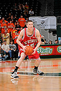 February 27, 2010: Scott Wood of the North Carolina State Wolfpack in action during the NCAA basketball game between the Miami Hurricanes and the North Carolina State Wolfpack. The Wolfpack defeated the 'Canes 71-66.