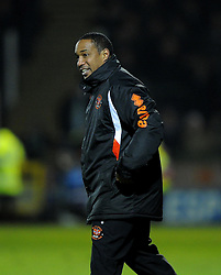 Blackpool Manager, Paul Ince remonstrates with Referee, Christopher Sarginson - Photo mandatory by-line: Joe Meredith/JMP - Tel: Mobile: 07966 386802 03/12/2013 - SPORT - Football - Yeovil - Huish Park - Yeovil Town v Blackpool - Sky Bet Championship