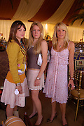 Catriona Pearson, Eliza Pearson and Emily Pearson. Veuve Clicquot Gold Cup Final at Cowdray Park. Midhurst. 17 July 2005. ONE TIME USE ONLY - DO NOT ARCHIVE  © Copyright Photograph by Dafydd Jones 66 Stockwell Park Rd. London SW9 0DA Tel 020 7733 0108 www.dafjones.com