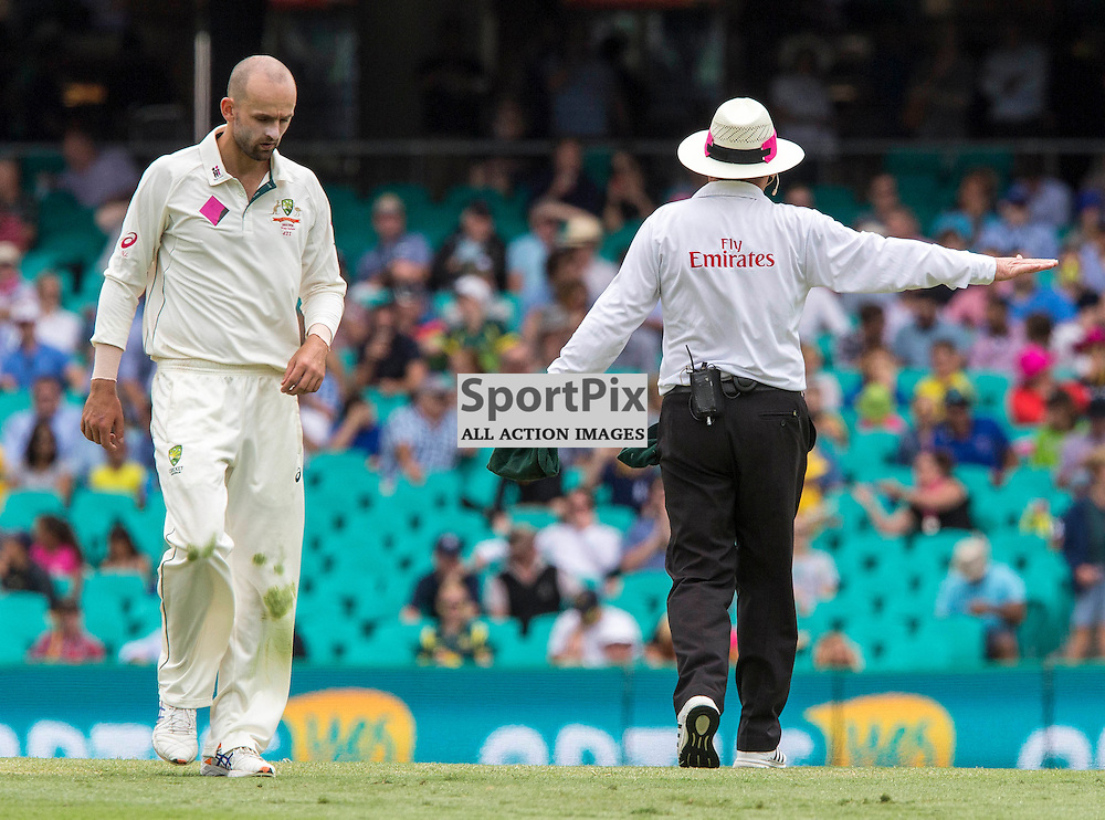 3rd Test Match 2015-16 Day 1, Australia v West Indies, Sydney Cricket Ground; 3 January 2016<br /> Australian Nathan Lyon after being hit for four by West Indian Kraigg Brathwaite