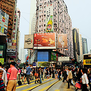 Rush hour at Hennessy Road, Hong Kong Island, Hong Kong, China, East Asia