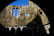 Ross Errilly Friary is a medieval Franciscan friary located about a mile to the northwest of Headford, County Galway. Founded in 1351, but documentary evidence have given rise to a modern consensus that the friary was founded  in the middle of the 15th century. It is among the best-preserved medieval monastic sites in the country.