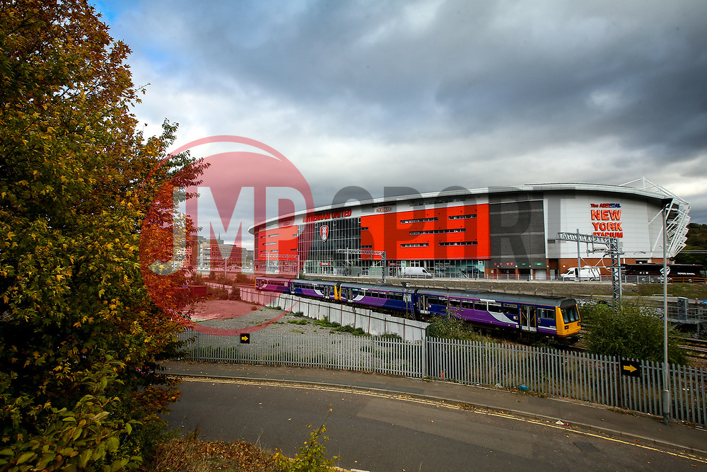 A general view of The Aesseal New York Stadium, home of Rotherham United - Mandatory by-line: Robbie Stephenson/JMP - 03/10/2018 - FOOTBALL - Aesseal New York Stadium - Rotherham, England - Rotherham United v Bristol City - Sky Bet Championship