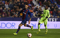 January 10, 2019 - Valencia, Valencia, Spain - Erick Cabaco of Levante UD during the Spanish Copa del Rey match between Levante and Barcelona at Ciutat de Valencia Stadium on Jenuary 10, 2019 in Valencia, Spain. (Credit Image: © Maria Jose Segovia/NurPhoto via ZUMA Press)