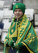 Preston - Saturday February 14th, 2009: Norwich City fan prior to the game against Preston North End during the Coca Cola Championship match at Deepdale, Preston. (Pic by Michael Sedgwick/Focus Images)